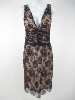 TULEH Pink and Black Lace Sleeveless Dress Size 6