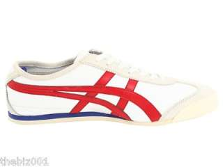 ASICS SHOES ONITSUKA TIGER MEXICO 66 WHITE/RED SIZE 13