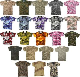 Camouflage Military T Shirts Army Tees Camo Shirts Tops