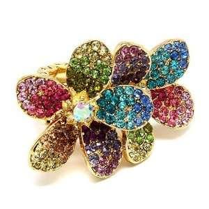 Stretch Cocktail Statement Ring Trendy Flower Fashion Jewelry Jewelry