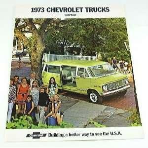 1973 73 Chevrolet Chevy SPORTVAN Van BROCHURE G10 G20