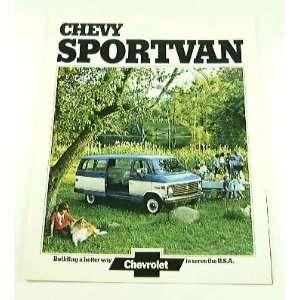 1974 74 Chevrolet Chevy SPORTVAN Van BROCHURE G20 G30