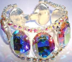 Outstanding vintage inspired Aurora Borealis Rhinestone Crystal