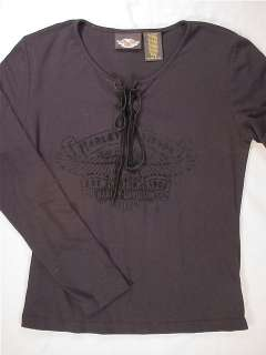 HARLEY DAVIDSON LongSleeved T Shirt (Womens Medium)