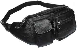 Arrival Men coffee black bull leather fanny waist bag backpack travel