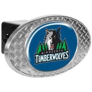 Minnesota Timberwolves Metal Diamond Plate Trailer Hitch