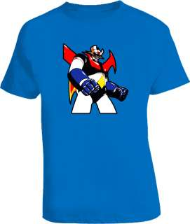 Tranzor Z 80S Retro Cartoon Classic Royal Blue T Shirt