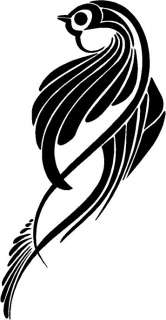 Tribal Bird Vinyl Decal Car Truck Boat Window Sticker