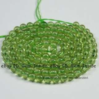 AAA grade 3mm Round Green Peridot Gemstone Beads strand