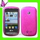 LG 900G Net 10 Tracfone TPU Gel Case Cover Hot Pink