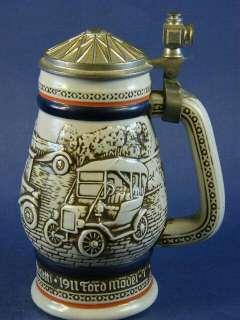 1979 Avon Antique Automobiles Cars Lidded Beer Stein