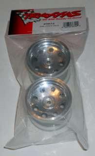 Traxxas 2.2 Inch Rear Chrome Wheels Rims ~TRA3672