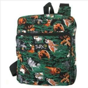 Wolf Bear Deer Outdoors Theme Compact Backpack by Broad Bay