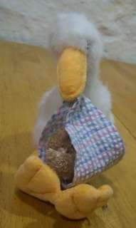 Boyds STORK W/ BABY BEAR 6 Plush Stuffed Animal