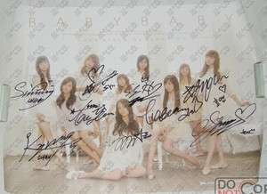 SNSD Girls Generation   Baby Baby Autographed Poster