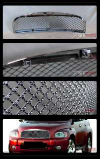 CHROME BADGELESS SPORT STYLE MESH FRONT BUMPER GRILL GRILLE ABS 06 10