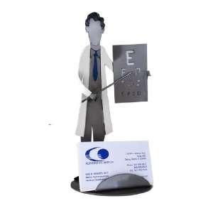 Eye Doctor Card Holder H&K Steel Sculpture