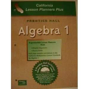 Prentice Hall California Lesson Planners Plus, Algebra 1