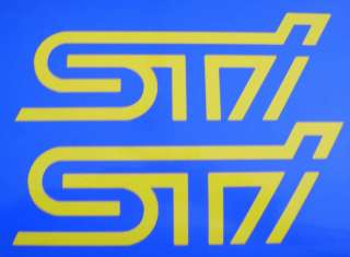 YELLOW STI SUBARU SPOILER STICKER,DECALS,IMPREZA