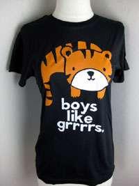 Loyal Army Black Tiger Boys likes grrrrs Tee Shirt 872
