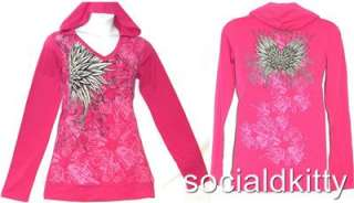 SIZE 3X~2X~HOT PINK~tie dye~ANGEL WINGS~punk/gothic~STUDDED~shirt