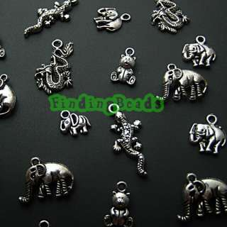 wholesale Tibetan Silver MIX ASSORTED Animal Charms pendant free ship