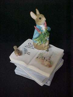 New BEATRIX POTTER THE TALE OF PETER RABBIT MUSIC BOX MIB A7171