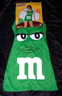 WOMENS GREEN M&M CHARACTER DRESS Costume Sexy FITS Sizes 4 10
