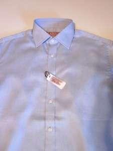 THOMAS PINK blue crease resistant dress shirt 15.5 NWT