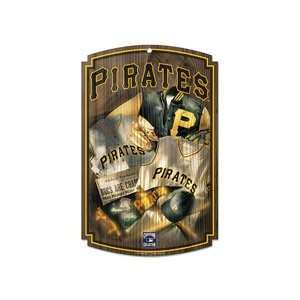Pittsburgh Pirates Official Logo Retro Wood Sign