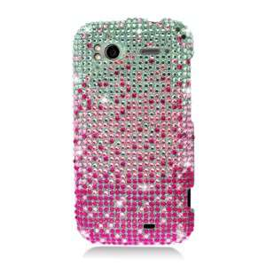 For HTC SENSATION 4G FULL DIAMOND CASE Waterfall Pink Phone Cover