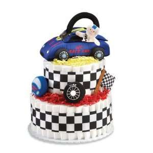 Peachtree Playset Diaper Cake PLCAR2T Race Car Theme 2 Tier: Baby
