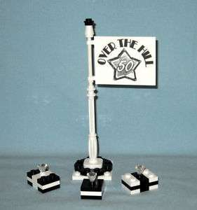 NEW LEGO OVER THE HILL 50 BIRTHDAY BANNER CAKE TOPPER