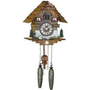 Quartz Cuckoo Clock Black forest house, incl. batterys