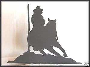POLE BENDING Western Horse Metal Art Silhouettes