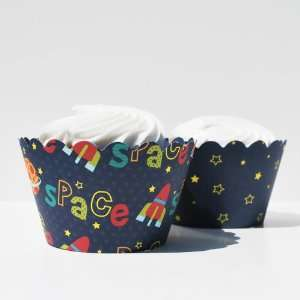 Cupcake Wrappers, Set of 12   Boys Birthday Cup Cake Decorations