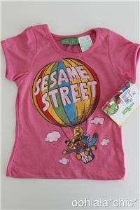 Hot Air Balloon Tee T Shirt Big Bird Bert Ernie Elmo Cookie