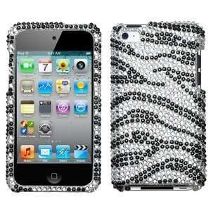 white black zebra bling Case Hard Cover for Apple iPod Touch 4G, 4th