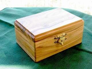 Olive Wood Olivewood Jewelry Keepsake Box Israel Large Holy Land