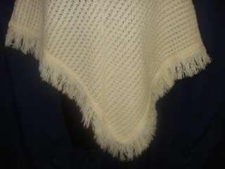 Crochet Poncho Cape Handmade Retro Womens Funky 1S16 Sweater