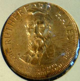 Rutherford B.Hayes Franklin MINT Commemorative Bronze Medal   Token