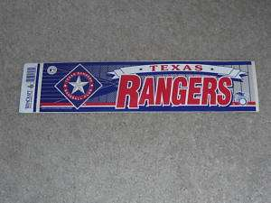 TEXAS RANGERS BUMPER STICKER VERY COLORFUL