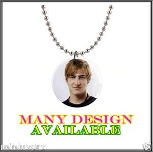 New Big Time Rush BTR 1 Button Necklace