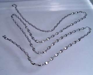 """23"""" (58cm) 1.60ct Diamond by the Yard 14K White Gold Necklace"""