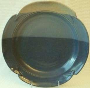 Pottery DINNER PLATE GS Gray Light Blue Dark Coupe Embossed Edge