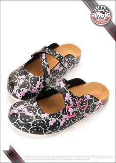 Hello Kitty Ladys Slippers Slip On Shoes White, Black #910678
