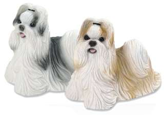 This listing is for the black and white Shih Tzu Dog Figurine