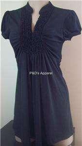 New Siren Lily Womens Maternity Black Shirt Top Ruffle Blouse S M L XL