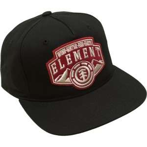 Element Rocky Mountain Black Starter Adjustable Flat Bill Hat Ball Cap