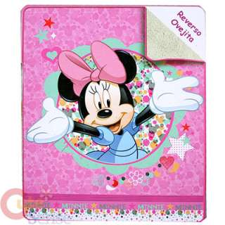 Disney Minnie Mouse Plush Blanket Baby Blanket Pink 1